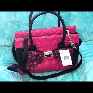 Authentic Betsey Johnson hand bag
